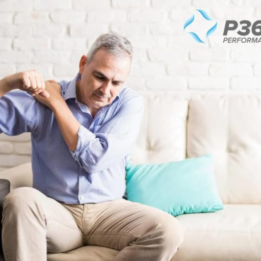 Man In Pain With A Frozen Shoulder